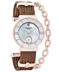 Charriol Women's Swiss St. Tropez Bronze Tone Pvd Stainless Steel Cable Bracelet Watch 30Mm St30pi.563.010