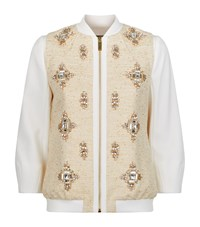 Ted Baker Banwell Bomber Jacket Female Cream