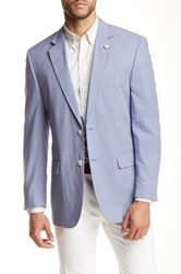 Kroon Brock Check Notch Lapel Two Button Blazer Blue