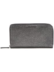 Jimmy Choo Metallic Continental Wallet Black