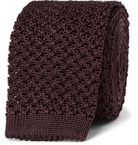 Tom Ford Knitted Silk Tie Merlot