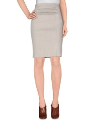 Donna Karan Skirts Knee Length Skirts Women Light Grey