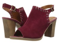 Bella Vita Ora Italy Bordeaux Italian Suede Leather High Heels Red