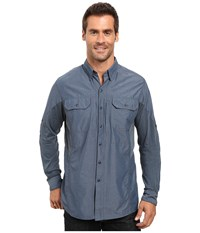 Kuhl Renegade Long Sleeve Shirt Pirate Blue Men's Long Sleeve Button Up