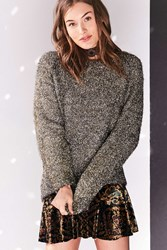 Silence And Noise Tinsel Oversized Sweater Gold