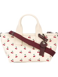 Marc By Marc Jacobs Small Cherry Print Canvas Tote Nude And Neutrals