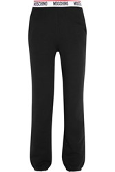 Moschino Cotton Jersey Track Pants Black