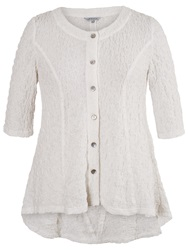 Chesca Textured Bubble Jacket Ivory