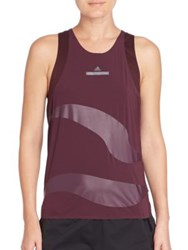 Adidas By Stella Mccartney Run Adizero Loose Tank Dark Burgundy