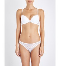 Elle Macpherson Body Pure Lace And Mesh T Shirt Bra Bright White
