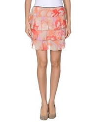 Paola Frani Mini Skirts Coral