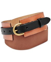 Fossil Colorblock Waist Belt Brown Black