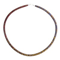 Peppercotton Thin Crystal Mesh Necklaces Gold Thick Mesh