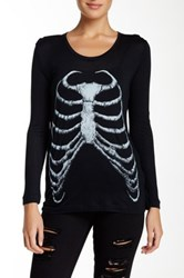 The Kooples Skeleton Print Tee Black