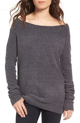 Hinge Women's 'Marilyn' Sweater Grey Forged Chenille Combo