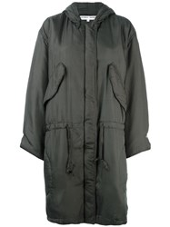 Ymc 'Katharina E Hamnett' Hooded Coat Green