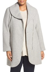 Jessica Simpson Plus Size Women's Asymmetrical Coat Grey