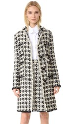 Rochas Tweed Coat Natural