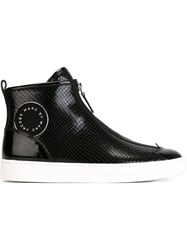 Marc By Marc Jacobs Snakeskin Effect Hi Top Sneakers Black