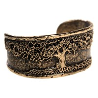 House Of Alaia Tree Of Life Cuff Bracelet Bronze