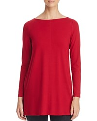 Eileen Fisher Boat Neck Tunic China Red