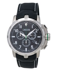 Venus Of Switzerland Chronograph Gent Watch W Rubber Strap Black