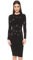 Mcq By Alexander Mcqueen Mesh Dress Darkest Black