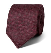Drakes 8Cm Wool And Cashmere Blend Tie Burgundy