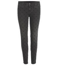 Stella Mccartney Embroidered Skinny Jeans Grey