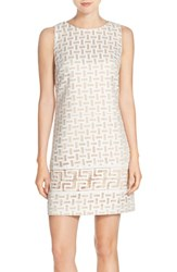 Women's Vince Camuto Embroidered Organza Shift Dress
