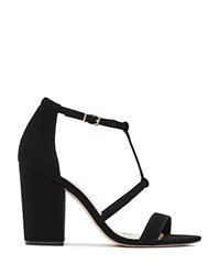 Reiss Moretz Block Heel Sandals Black