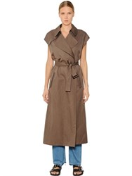 Helmut Lang Doubled Cotton And Linen Trench Style Vest