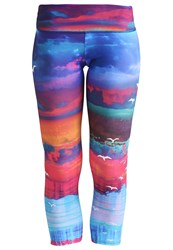 Onzie Tights White Sands Multicoloured