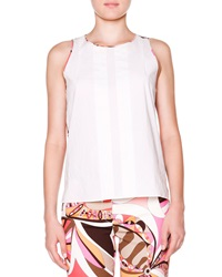 Emilio Pucci Sleeveless Top W Printed Back 38 4