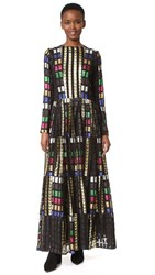 Dodo Bar Or Salina Dress Black Gold Multi