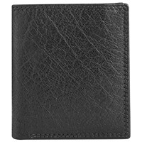 John Lewis Katta Aniline Leather Credit Card Wallet Black