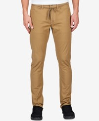Volcom Men's Gritter Modern Tapered Pants Khaki