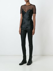 Alexander Wang Sheer Insert Stud Top Black