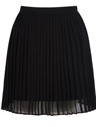 Mela Loves London Pleated Mini Skirt Black
