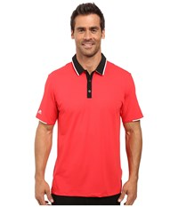 Adidas Climacool Performance Polo Ray Red Black Men's Clothing