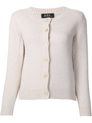 A.P.C. Knitted Long Sleeve Cardigan White