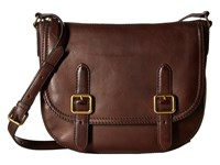 Frye Claude Crossbody Chocolate Tumbled Full Grain Handbags Brown
