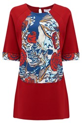 Almost Famous Oriental Floral Panel Tunic Black