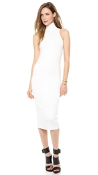 Ad Ponte Turtleneck Midi Dress White