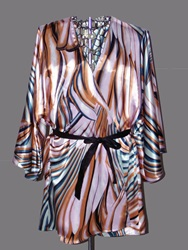 O'keeffe Silk Short Robe Bold Orange By Ericawaddellclothing
