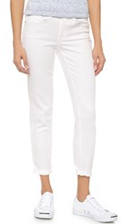 Vince Mason Relaxed Rolled Jeans White