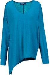 Magaschoni Silk And Cashmere Blend Sweater Turquoise