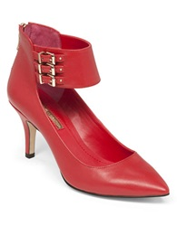 Bcbgeneration Opera Ankle Strap Pumps Red