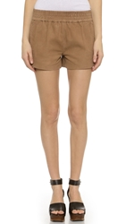 Pam And Gela Suede Shorts Tan