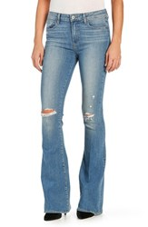 Paige Women's 'Bell Canyon' Ripped High Rise Flare Jeans